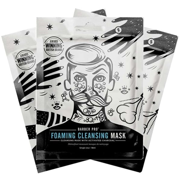 Barber Pro Foaming Cleansing Mask 3-Pack