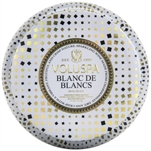 Voluspa 2 Wick Maison Metallo Candle Blanc De Blancs