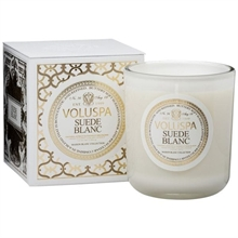 Voluspa Classic Maison Candle Suede Blanc